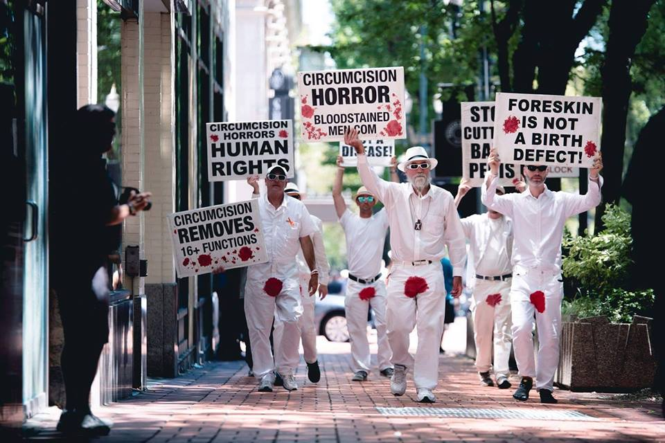Photo - circumcision protesters