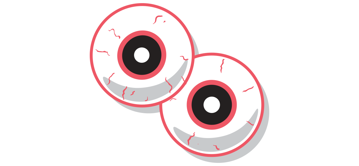 graphic - red eyes