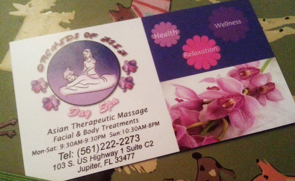 photo - Orchids of Asia day spa business card