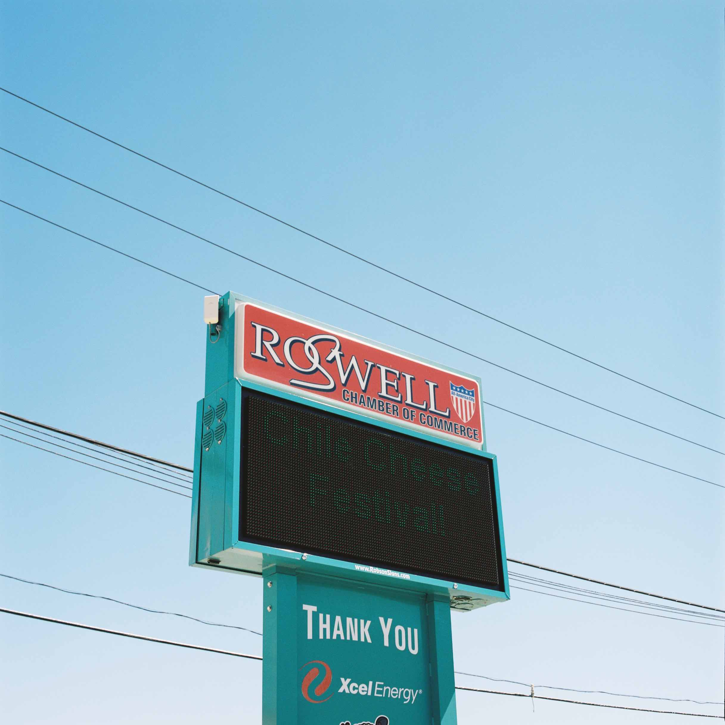 photo - Roswell Chamber of Commerce sign