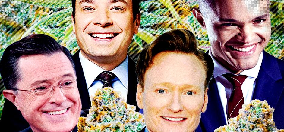 Late night hosts say the darndest things about weed ...