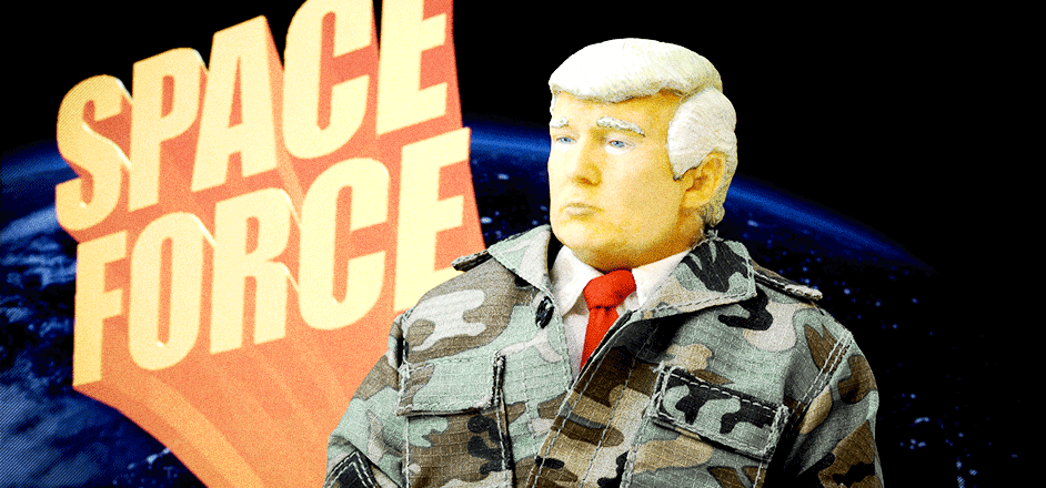 """Image result for Donald Trump signs defense bill that creates Space Force, expands parental leave """""""